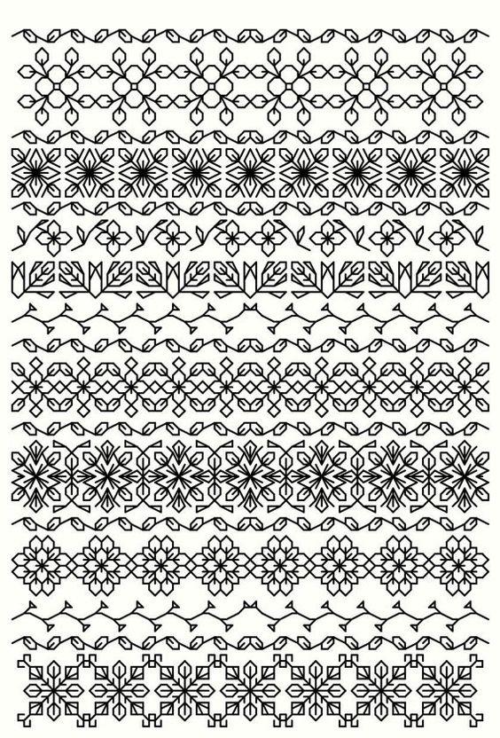 BlackworkSammlung...20 Lesezeichen 40 Schneeflocken von sebadesigns