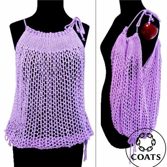Acesse o blog e veja como fazer esta linda blusa de verão, que serve como saída de praia e ainda vira uma bolsa! http://www.pontoarroz.com.br/2013/12/blusa-surpresa-da-coats.html
