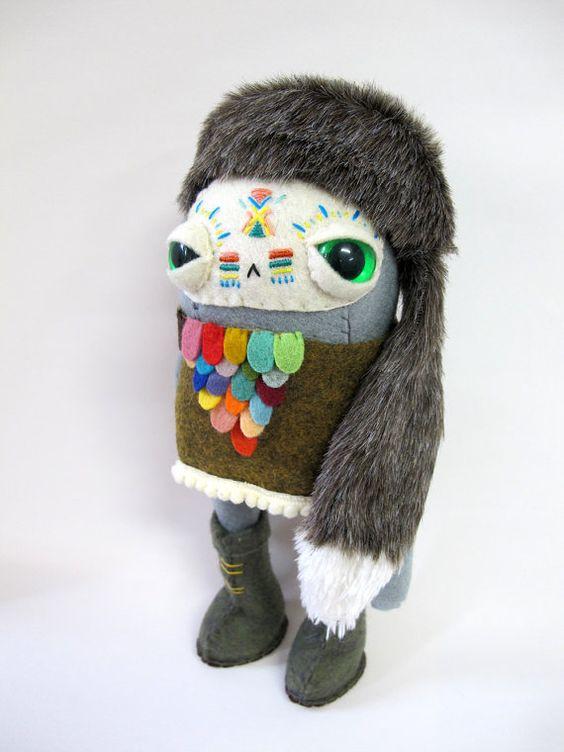 Peace Warrior Rabbit  Made to Order by catrabbitplush on Etsy, $110.00