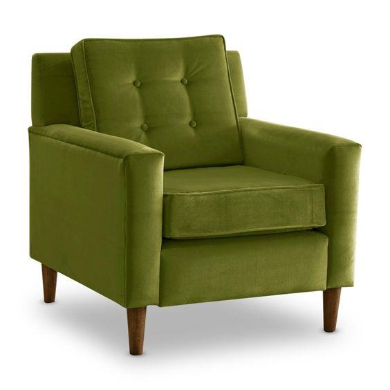 apple green velvet chair