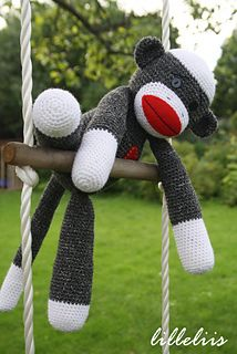 Free Crochet Pattern Sock Monkey Slippers : Crochet sock monkeys, Yarns and Patterns on Pinterest