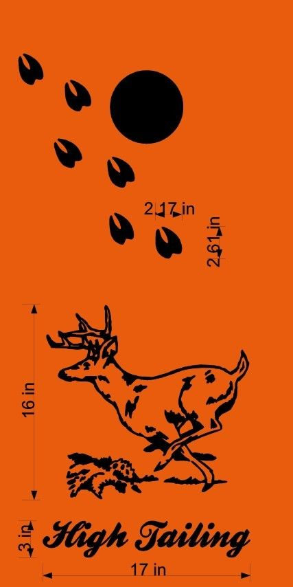 Deer Hunting Cornhole Board Decal Stickers Bean Baggo Backyard Games - StickerChef
