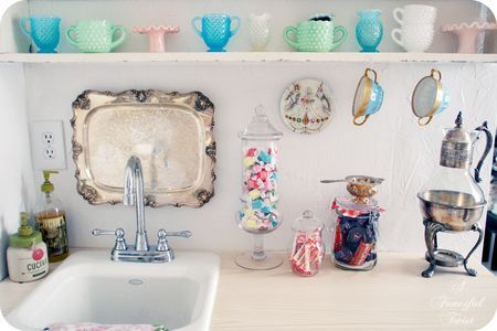 cute above sink
