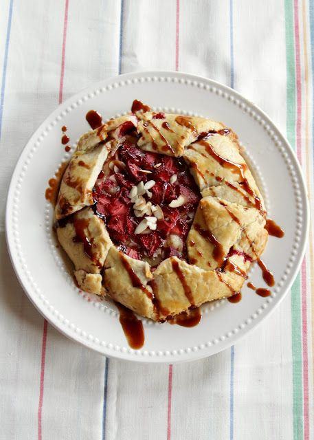 Balsamic Strawberries and Brie Galette