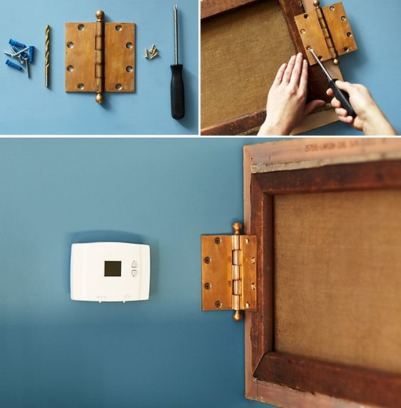 How to hide thermostats and the like. Beautiful Living Style: decorate
