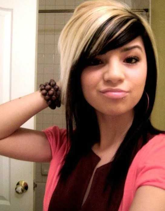 Emo Hairstyles For Girls Red Blonde Hair Blonde Hair With Highlights Long Hair Styles