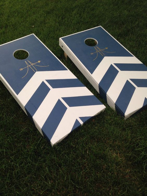 Custom Made to Order handpainted Corn Hole by CoastalCalligraphy