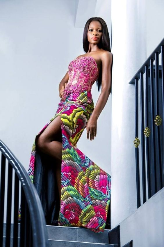 belle tenue en pagne et dentelle   Contemporary fashion ...