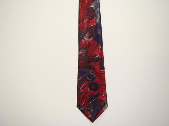 Windridge Mens Blue Red Multi Color 100% Polyester Dress Neck Tie Necktie 58in #Windridge #Tie