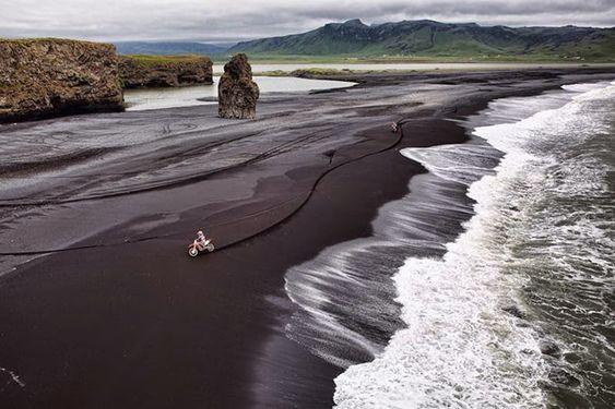 Las Playas de Arena Negra de Vik: