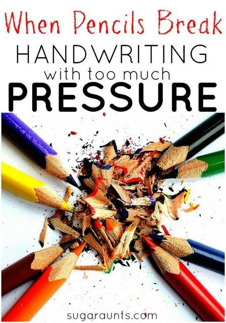 How can I write with minimal pressure on my hands?