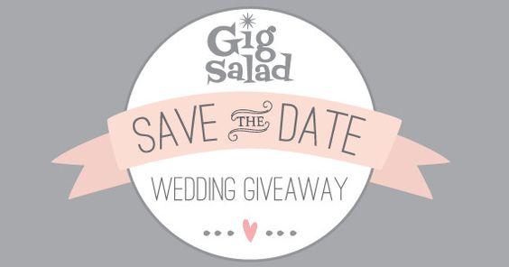 Gig Salad's Save The Date Wedding Giveaway Series // Engaged Couples enter to win over $1000 in wedding Prizes!  #WeddingPlanning #WeddingSeason #WeddingGiveaway
