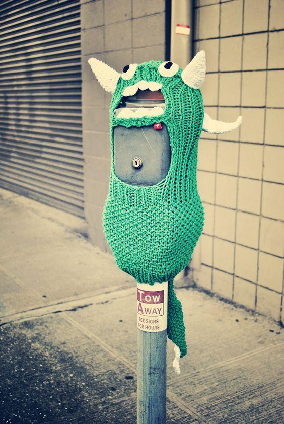 Knitting Graffiti Rocky : Creative yarn bombing and yarns on pinterest