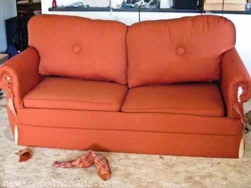 Reupholster your own rv sofa an rv tip pinterest the for Recover rv furniture