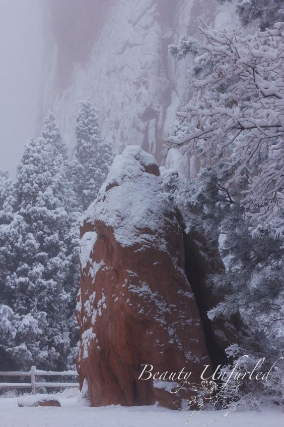 snowy mist at Garden of the Gods  award-winning photography by Beauty Unfurled www.beautyunfurled.com