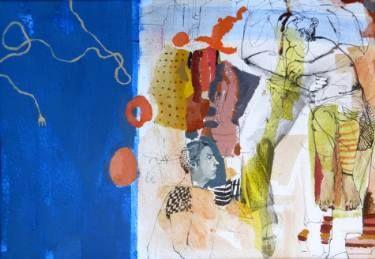 "Saatchi Art Artist Golnaz Afraz; Painting, ""Silence bleu"" SOLD"""" #art"