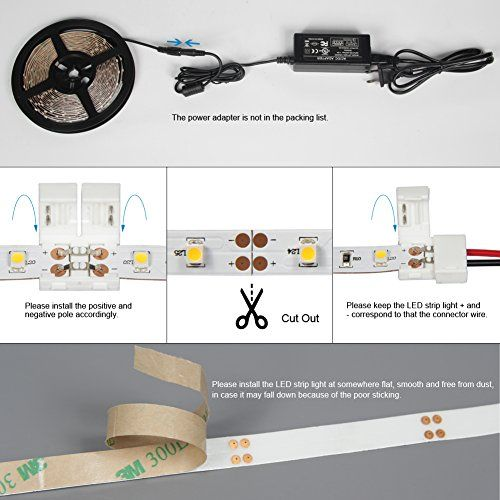 Signcomplex 16 4ft Led Flexible Strip Lights 300 Units Smd3528 Leds Non Waterproof 12v Dc Led Tape Light Led Tape Lighting Strip Lighting Led Flexible Strip
