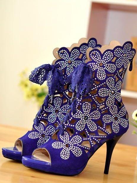 Rhinestone-Flower-Cut-Out-Gladiator-Heels-Blue