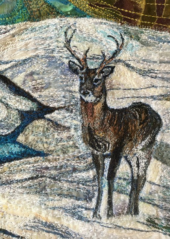 Little deer from machine embroidery by Rachel Wright: