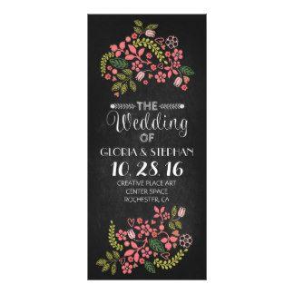 tarjetas de programa florales del boda de la pizar diseños de tarjetas publicitarias