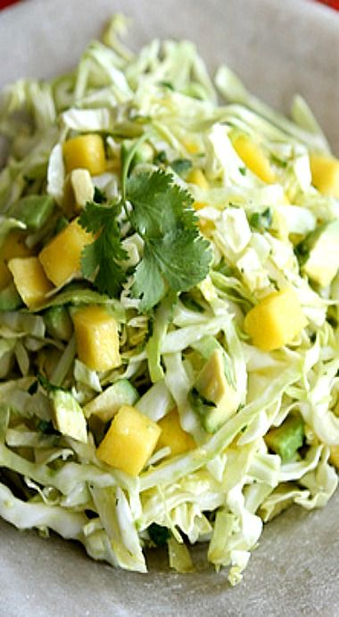 Mexican Slaw Recipe with Mango, Avocado & Cumin Dressing for Cinco de ...