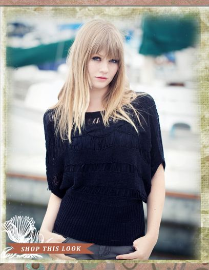 LOVE this little flapper styled top.