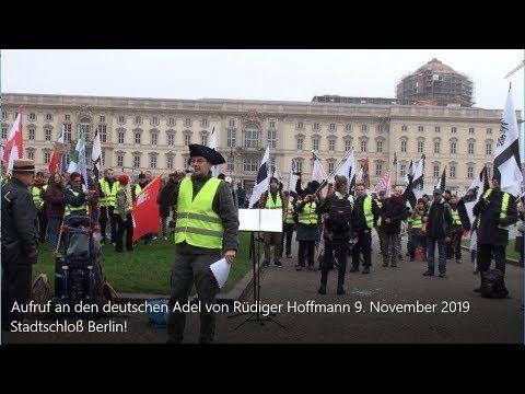 Aufruf An Den Deutschen Adel Rudiger Hoffmann 9 November 2019 Hohenzollern Stadtschloss Berlin Youtube Adele Stadtschloss Die Bundesrepublik Deutschland