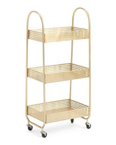 Metal Storage Rack Accent Furniture T J Maxx Huisinrichting
