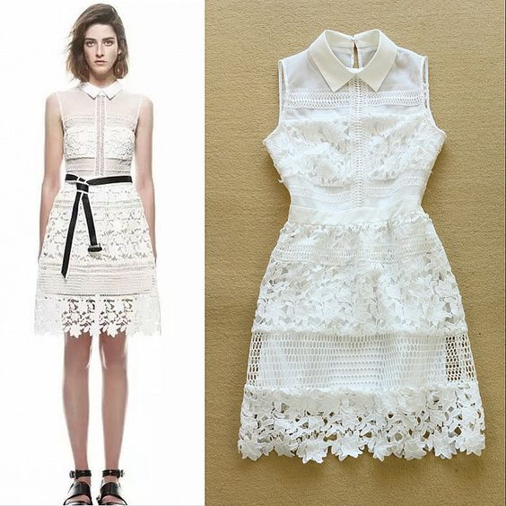 Barato Europeu 2015 verão Runway Designer vestido de mulheres sem mangas gola Peter Pan branco de renda bordado recorte vestido de festa, Compro Qualidade Vestidos diretamente de fornecedores da China: 2015 Summer Designer Dress Women's High Quality Vintage Short Sleeve Beading Tribal Ethnic Printed Casual Dress US $ 49.