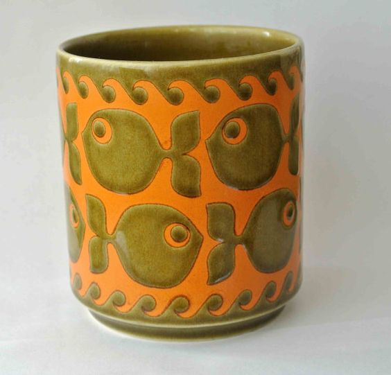 HORNSEA Pottery MUGSchool of FISH Clappison by BownessRoadRetro