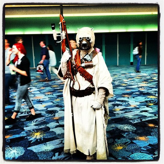 Nobody gets the cosplay party started like a Tusken Raider does! #WonderCon