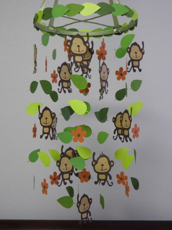 Monkey Baby Paper Mobile By Whimsicalaccents Thema Apen