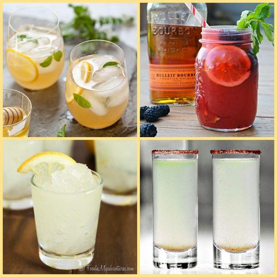 To celebrate National Lemonade Day...I've put together some cocktails to make! www.mantitlement.com
