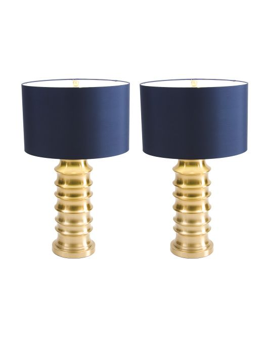 Perfect Lamps With Brass Base And Navy Shade Lamp Blue And Gold Living Room Blue Living Room Decor