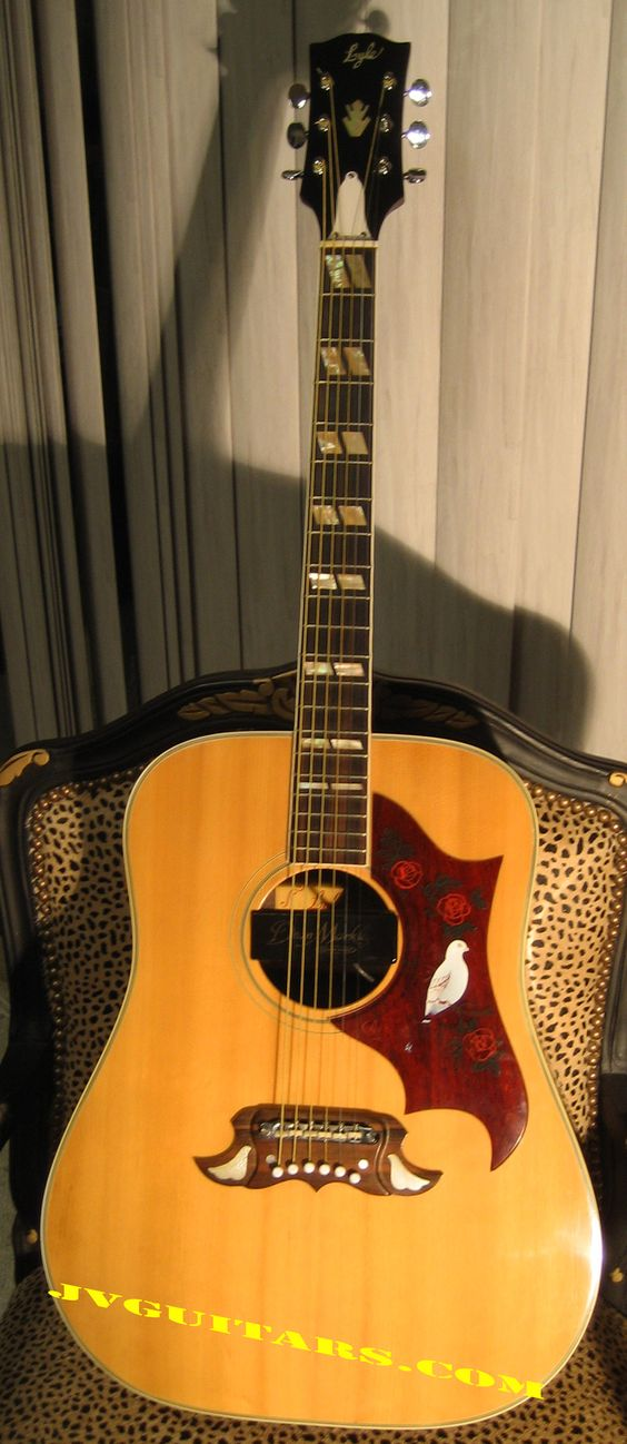 """Lawsuit Gibson"" 1970's Alvarez Dove. It's called a Lawsuit Gibson because Alvarez was sued by Gibson for making the same exact guitar. It sounds just like a Gibson."
