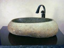 Large Boulder Sand Granite Stone Vessel Sink UVYHDTRISTANLS
