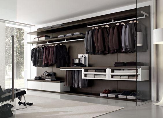 Cajones volados modern italian walking closet system for Armarios diseno italiano