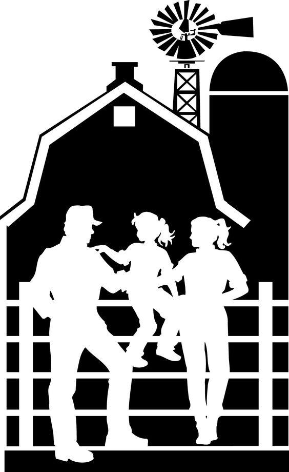 Silhouette, Iowa and Farms on Pinterest