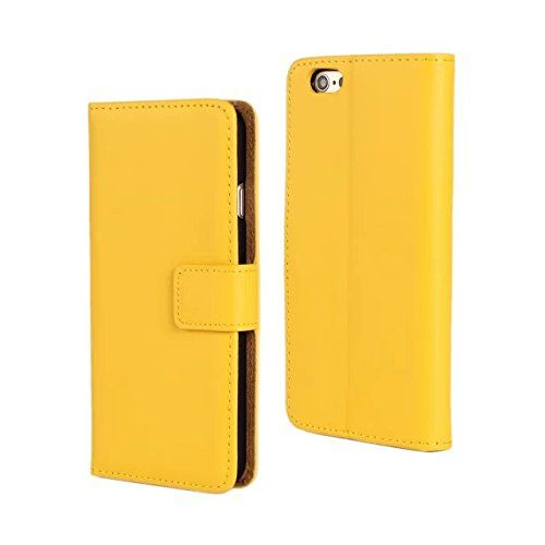 BIFOLD Wallet Flip Cover Case With Foldable Stand Credit Card ID Holders PU Leather Case For Apple iphone 6 Plus 5.5inch Yellow. Case for Apple iphone 6 Plus 5.5inch. Allows access to all ports, controls and connections. Camera Hole cut out on the back. Secure Closure System.Keep Your Phone Free From Bumps and Scratches. Build in Card Pockets to Conveniently Store IDs and Credit Cards.