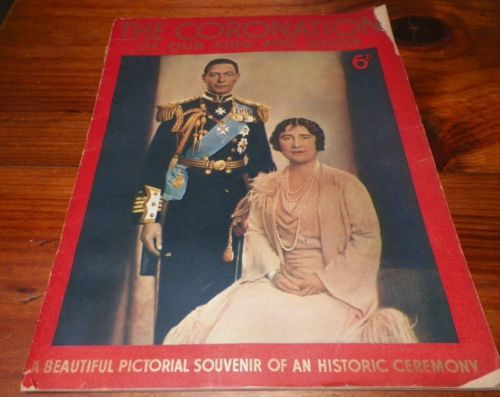 The Coronation Of Our King and Queen Royalty London Vintage Book Magazine