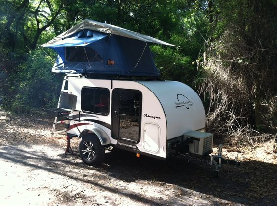 Biscayne Teardrop Camper Trailer With Roof Top Tent And