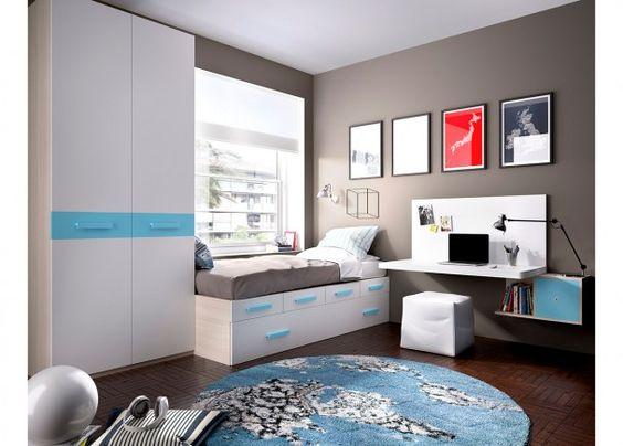 juvenil modular con cajones escritorio armario