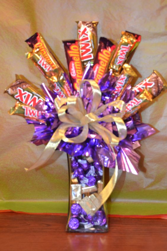 candy arrangements are fun to make!