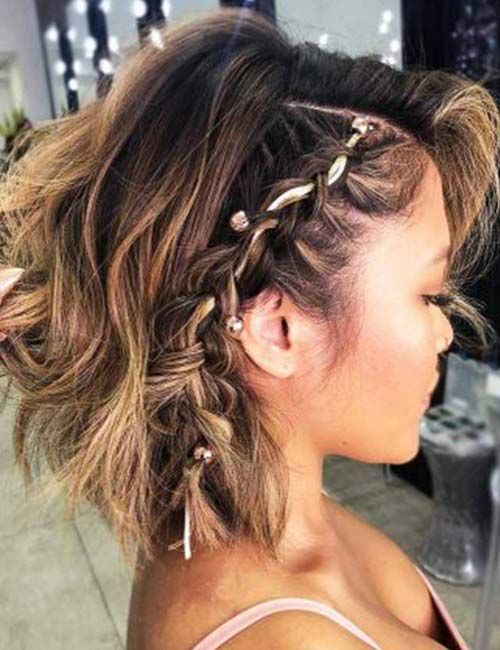 Half Up Hairstyles For Short Hair For Prom 68