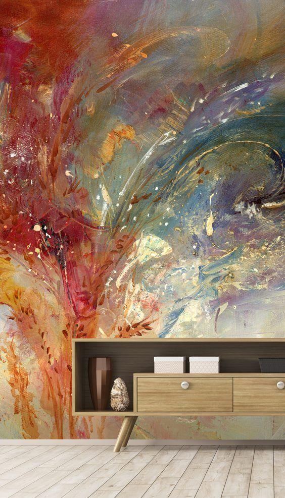 Measureless Blue Wall Mural Wallsauce Nz Wallpaper Wall Wallpaper Mural Wallpaper