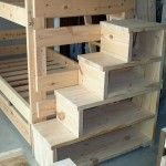 Bunk bed shelf stairs