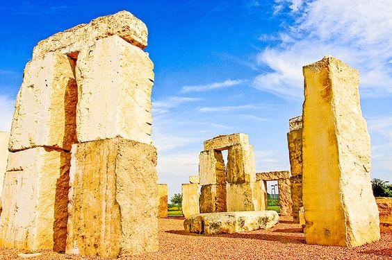 Stonehenge, University of Texas at Permian Basin, Odessa Texas (by samballew, via Flickr)