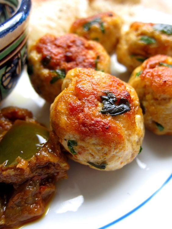 Curried meatballs with raita | Appetizers H'orderves | Pinterest ...