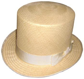 Not all top hats were made out of felt or silk, as this rare straw example from London shows.