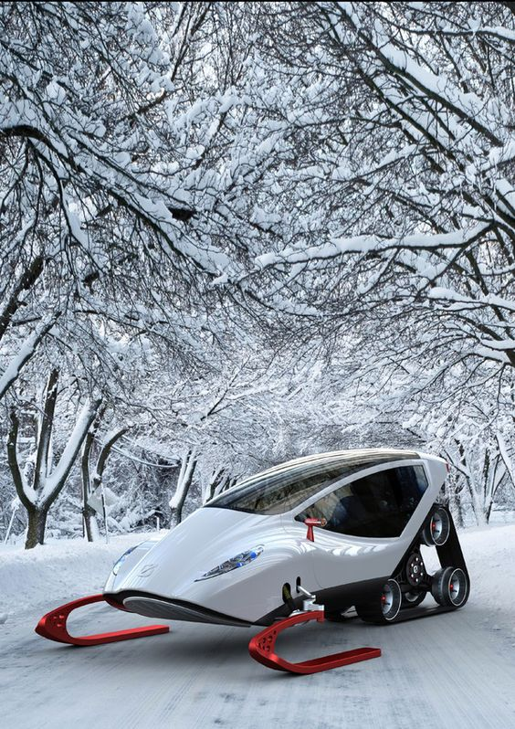 SNOW VEHICLE - Futurologo no. 12 by Michal Bonikowski, via Behance